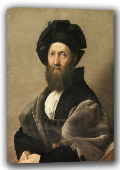 Raphael: Portrait of Baldassare Castiglione. Fine Art Canvas. Sizes: A4/A3/A2/A1 (001932)